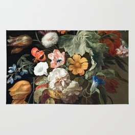 Still Life Flower Painting by Rachel Ruysch Rug