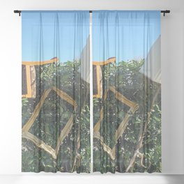 my new mental boss office after work Sheer Curtain
