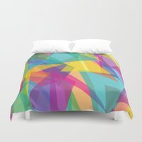 transparent Duvet Covers featuring Transparent Triangles by AleyshaKate
