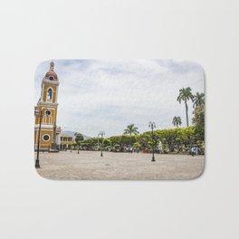 Granada Cathedral at the Parque Colon de Granada in Nicaragua Bath Mat