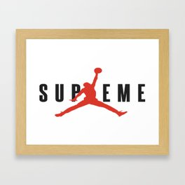 supreme jump Framed Art Print