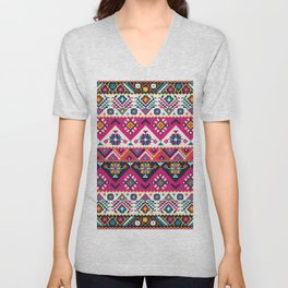 Oriental Floral Traditional Moroccan Style  Unisex V-Neck
