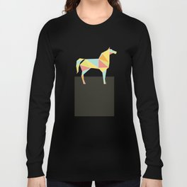 Origami Horse by Friztin Long Sleeve T-shirt