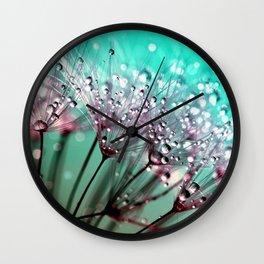 Dewdrops & Dandelions Wall Clock