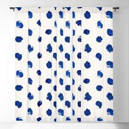 Blue Paint Pattern Blackout Curtain