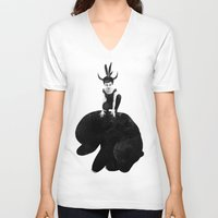 ruben V-neck T-shirts featuring The Mound by Ruben Ireland