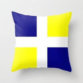 Flag of old louisiana Throw Pillow