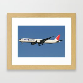 Oneworld (Japan Airlines - JAL) Boeing 777-346 Framed Art Print