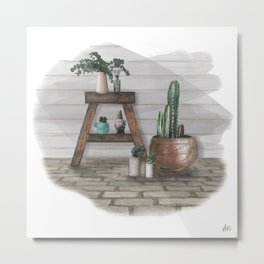 Green Home, Happy Home Metal Print