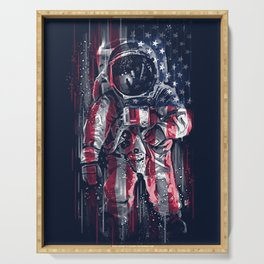 Astronaut Flag Serving Tray