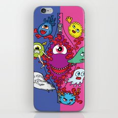 Monsters under the zipper iPhone & iPod Skin
