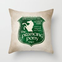gondor Throw Pillows featuring The Prancing Pony Sigil by Nxolab