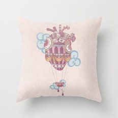 Light at heart (come fly with me) Throw Pillow