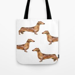 Dachshund Dog Watercolor Painting  Tote Bag
