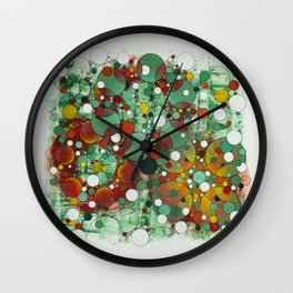 Dark Green Dot Wall Clock