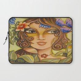 Mona Lisa's Butterflys Laptop Sleeve