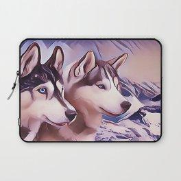 A Pair of Siberian Huskys Laptop Sleeve