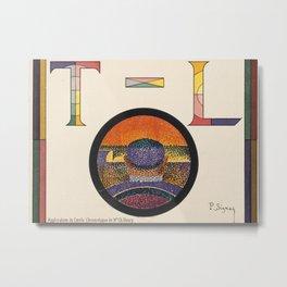 Application of Charles Henry's Chromatic Circle Metal Print