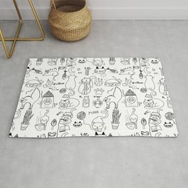 Black and white cats Rug
