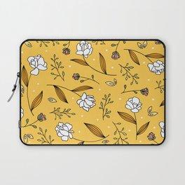 Gold Floral Laptop Sleeve