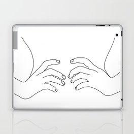 Hands on waist line drawing illustration - Harper Laptop & iPad Skin