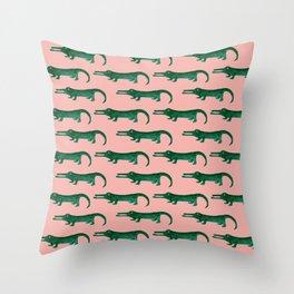 Croco No 1 Throw Pillow