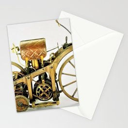1885 Daimler-Maybah Reitwagen riding car - world's first motorcycle Stationery Cards