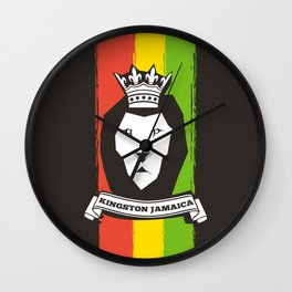 Rasta Lion Wall Clock