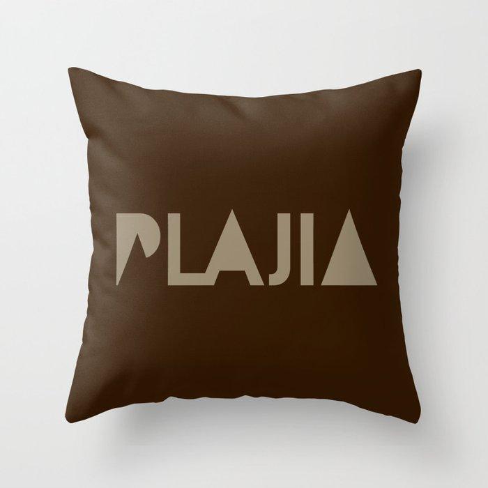 Plajia Logo Throw Pillow