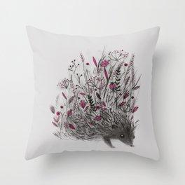 HEDGEHOG (grey) Throw Pillow