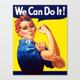 Rosie The Riveter - We Can Do It Canvas Print