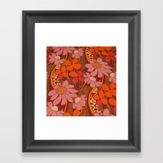 Crazy pinks 50s Flower  Framed Art Print