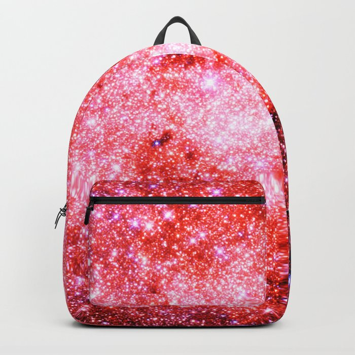 GALaXY Sparkle Stars Pink Coral Lavender Backpack