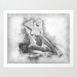 Pencilled for Pleasure Art Print