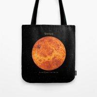venus Tote Bags featuring Venus by Terry Fan