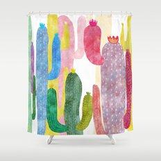 color cactus Shower Curtain