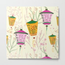 Chinese lanterns art Metal Print
