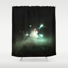 Color Firework Shower Curtain