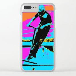 The Bunny Hop - Scooter Stunt Clear iPhone Case