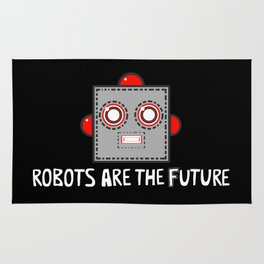 Robots are the Future Rug