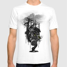 DIRTY WEATHER Mens Fitted Tee White SMALL