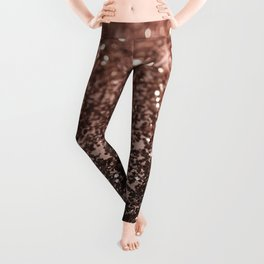 Rose Gold Glitter #1 #sparkling #decor #art #society6 Leggings