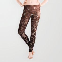 Rose Gold Glitter #1 #sparkling #decor #art #society6 Leggings
