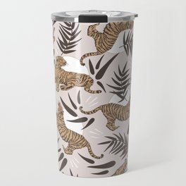 Tigers and Bamboo Leaves Travel Mug