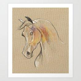 Horse sketch 01 Art Print