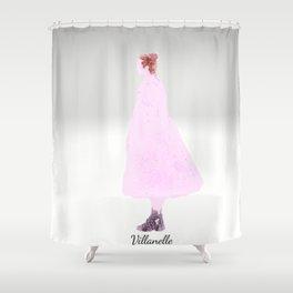 Killing Eve -Villanelle- Pink Dress - watercolor Shower Curtain