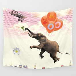 Elephant Air Zoo Wall Tapestry