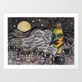 The Night Queen Art Print
