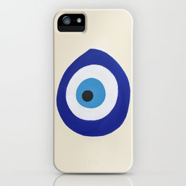 Blue Evil Eye iPhone Case