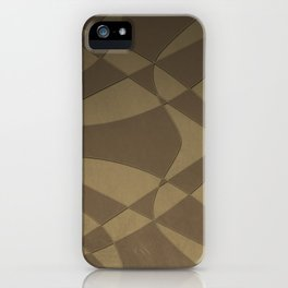 Wings and Sails - Beige and Brown iPhone Case